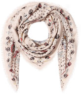 Alexander McQueen Printed Scarf with Silk