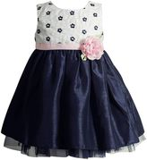 Youngland Toddler Girl Woven Flower Bodice Occasion Dress