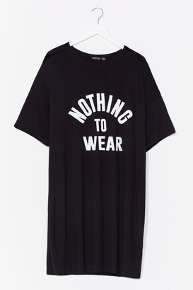 Nasty Gal Womens Nothing to Wear Plus Graphic Tee Dress - Black