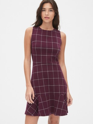 Gap Sleeveless Plaid Fit and Flare Dress