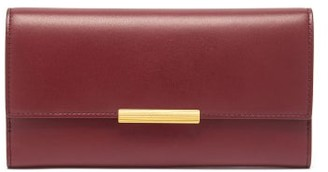 Bottega Veneta Continental Leather Wallet - Burgundy