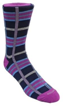 Duchamp London Men's Plaid Dress Sock