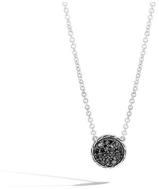 John Hardy Classic Chain Round Necklace With Black Sapphire, Black Spinel