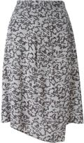 Carven graphic print asymmetric skirt - women - Acetate/Viscose - 42