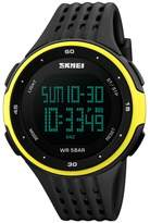 Men's Sport Digital Watches, ODGear Waterproof Electronic Military Quartz Casual LED Back Light Thin Unique Simple Design Water Resistant Calendar Month Date Day