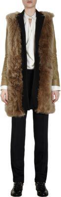 Balenciaga Fur Front Coat
