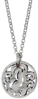 Lois Hill Sterling Silver Open Scroll Pendant & Flower Charm Necklace