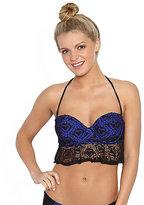 Betsey Johnson Love Lace Crochet Molded Bra Top