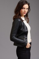 Dynamite Faux Leather Blazer with Zippers