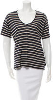 Burberry Striped Short Sleeve Top