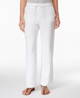 Charter Club Petite Linen Drawstring Pants, Created for Macy's