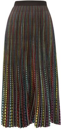 Mary Katrantzou High-waisted Printed Crepe Midi Skirt - Womens - Multi