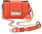 Rebecca Minkoff Collection Mini Ostrich-Embossed Box Shoulder Bag