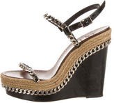 Christian Louboutin Chain-Link Wedge Sandals