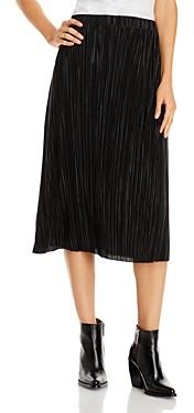 Aqua Plisse Midi Skirt - 100% Exclusive