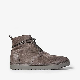 Marsèll Gomme Shearling Lined Laced Boot (Dark Grey) Men's Shoes