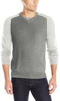 Perry Ellis Men's Colorblock V-Neck Sweater