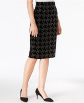 Bar III Embellished Houndstooth Pencil Skirt, Only at Macy's
