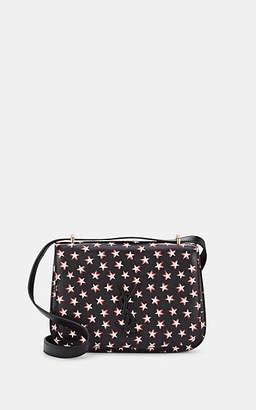 Saint Laurent Women's Spontini Small Star-Print Leather Saddle Bag - Black