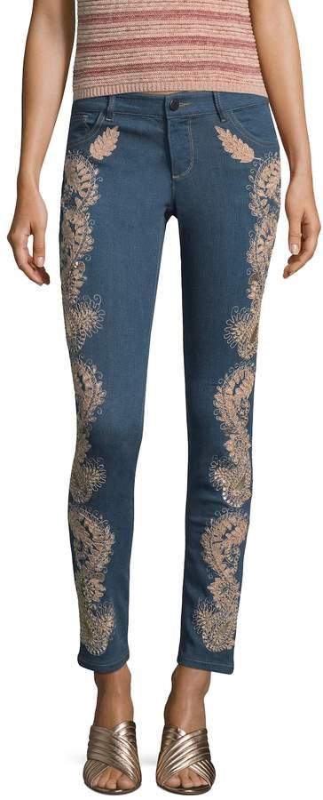 Alice + Olivia Women's Jane Embellished Skinny Jeans