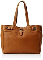 Fat Face Women's Three Buckle Leather Tote Lingerie Bag