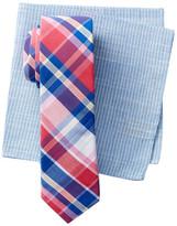 Original Penguin Clive Plaid Tie & Pocket Square 2-Piece Set