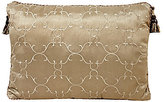 Veratex Corsica Tufted Faux-Silk Tasseled Boudoir Pillow