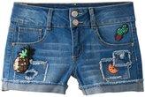 Vanilla Star Girls 7-16 Sequin Patch Jean Shorts