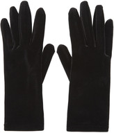 Balenciaga Black Velour Panama Short Gloves