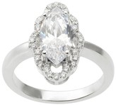 Journee Collection 2 1/2 CT. T.W. Marquise-cut Cubic Zirconia Engagement Basket Set Ring in Sterling Silver - Silver