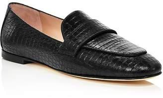 Stuart Weitzman Women's Payson Croc-Embossed Loafers