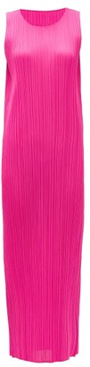 Pleats Please Issey Miyake Technical-pleated Longline Dress - Womens - Pink