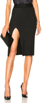 Baja East Wide Rib Jersey Slit Skirt in Black.