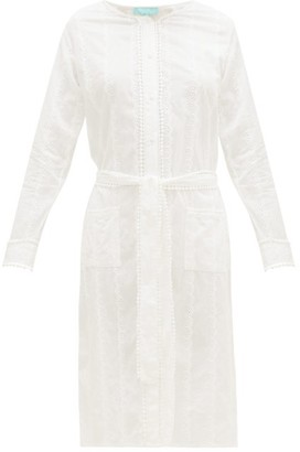 Melissa Odabash Patty Belted Cotton-voile Shirt Dress - White
