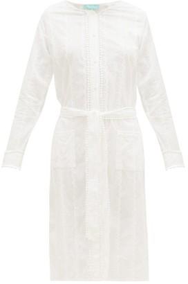 Melissa Odabash Patty Belted Cotton-voile Shirt Dress - Womens - White