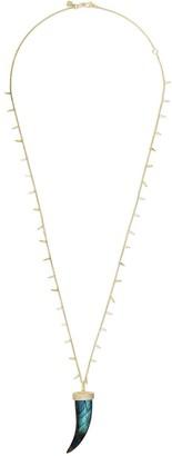 Sydney Evan 14kt Yellow Gold Labradorite Horn Necklace