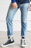 LA.EDIT Vintage Stitched Medium Indigo Skinny Jeans