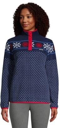 Lands' End Women's Heritage Quarter-Snap Fleece Jacket