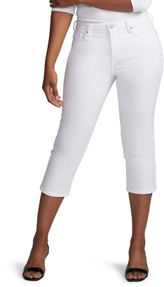Curves 360 by NYDJ High Waist Side Slit Slim Straight Crop Jeans