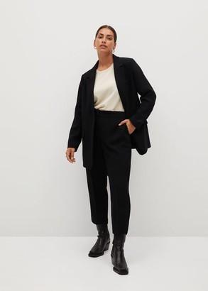 MANGO Violeta BY Relaxed fit suit blazer black - S - Plus sizes