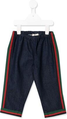 Gucci Kids Side Stripe Jeans