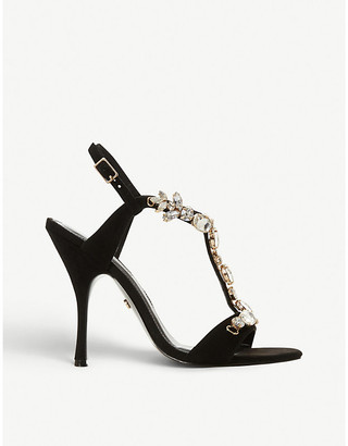Dune Mistique crystal-embellished suede sandals