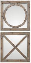 Uttermost Abbracci 2-piece Wood Wall Mirror Set