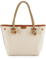 MICHAEL Michael Kors Maritime Medium Canvas Beach Tote Bag