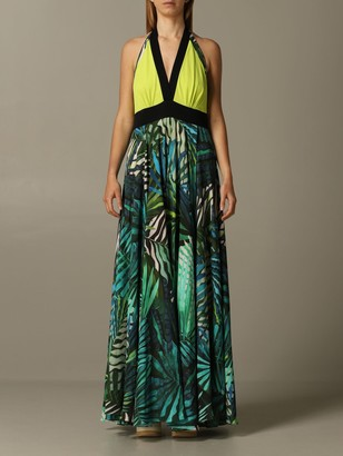 Hanita Long Dress With Tropical Print
