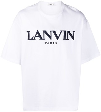 Lanvin logo-embroidered cotton T-shirt