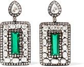 Amrapali 18-karat Gold, Silver, Emerald And Diamond Earrings