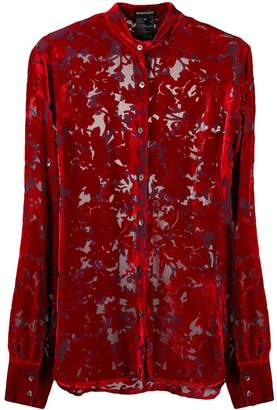 Ann Demeulemeester floral embroidered shirt
