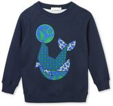 Stella McCartney midnight betty seal print sweatshirt