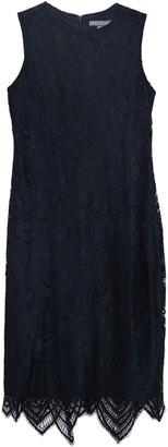 Sharagano Floral Lace Scalloped Sheath Dress